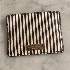 Henri Bendel Classic Striped Card Case